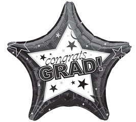 Black Congrats Foil Balloon Graduation - nyea's Party Store