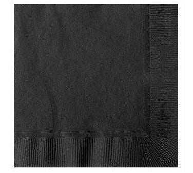 Black 9 inches Beverage Napkins - nyea's Party Store