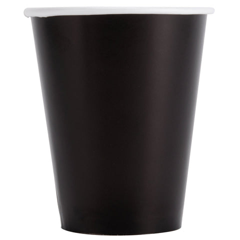 Black Velvet 9oz Paper Cups - nyea's Party Store