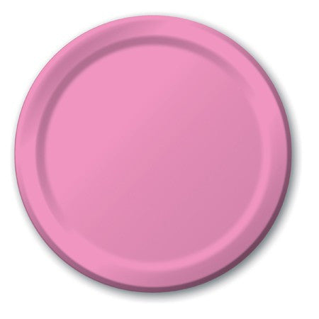Candy Pink 7 inches Lunch/Dessert Paper Plates - nyea's Party Store