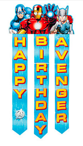 Avengers Assemble Birthday Banner - nyea's Party Store