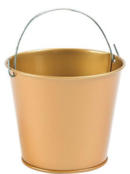 Metal Mini Goldtone Pails - nyea's Party Store