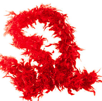 Genuine Red Feather Boas - nyea's Party Store