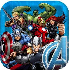 Avengers Assemble Square Plates - nyea's Party Store