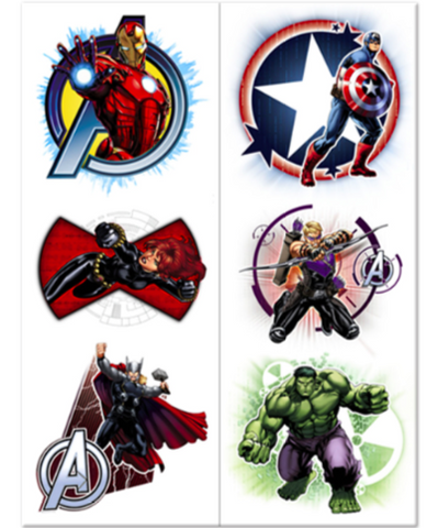 Avengers Assemble Tattoos - nyea's Party Store