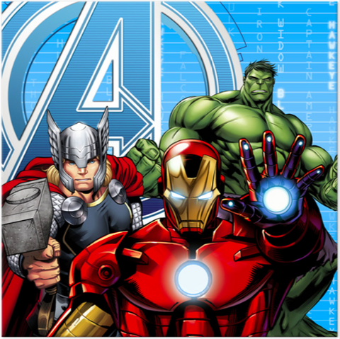 Avengers Assemble Lunch Napkins - nyea's Party Store