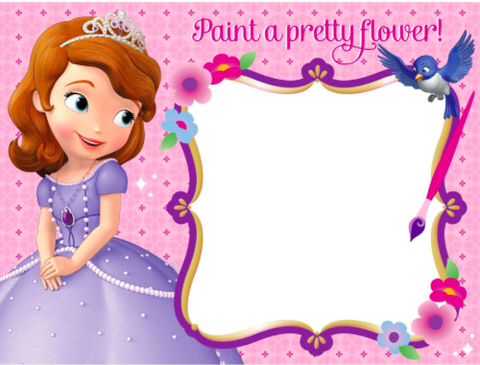 Sofia the First Water Paint Boards - nyea's Party Store