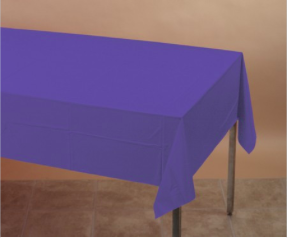 Purple 54 x 108 Plastic Table Cover - nyea's Party Store
