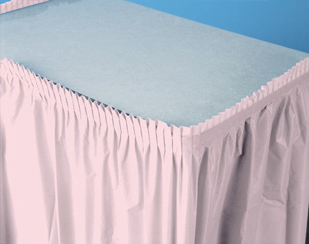 Classic Pink 14 feet Table Skirt - nyea's Party Store