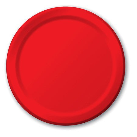 Red 7 inches Lunch/Dessert Paper Plates - nyea's Party Store