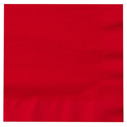 Red 9 inches Beverage Napkins - nyea's Party Store
