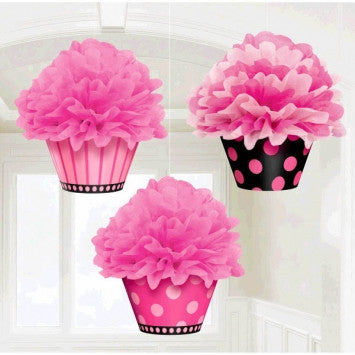 Cupcake Fluffy Decorations - nyea's Party Store