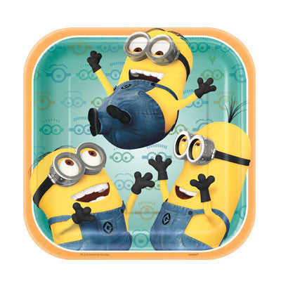 Despicable Me 2 7in Square Plates - nyea's Party Store