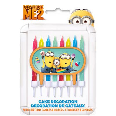 Despicable Me 2 Cake Decorations with Candles - nyea's Party Store