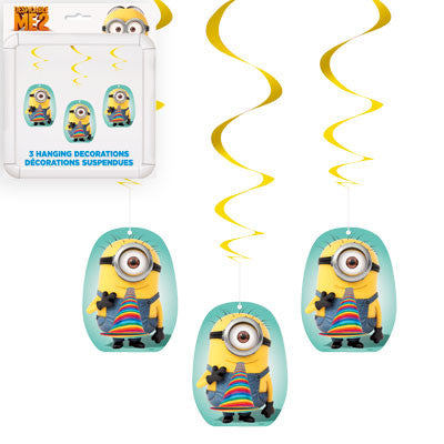 Despicable Me 2 Hanging Decorations - nyea's Party Store