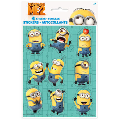 Despicable Me 2 Stickers - nyea's Party Store