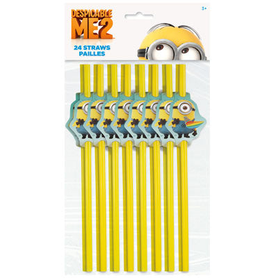 Despicable Me 2 Straws - nyea's Party Store