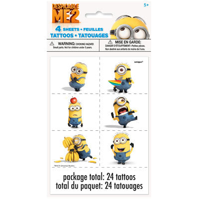 Despicable Me 2 Tattoos - nyea's Party Store