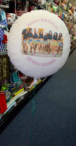 Custom Photo Balloons - nyea's Party Store    - 1
