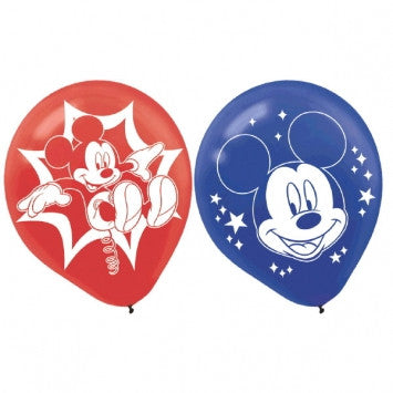 Disney Mickey Mouse Printed Latex Balloons - nyea's Party Store