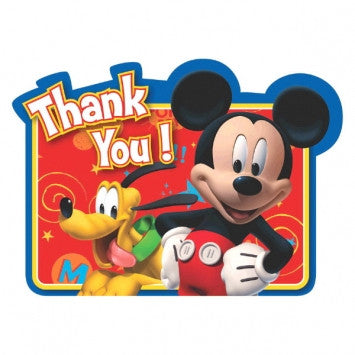 Disney Mickey Mouse Thank You Notes - nyea's Party Store