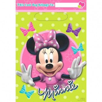 Disney Minnie Mouse Folded Loot Bags - nyea's Party Store