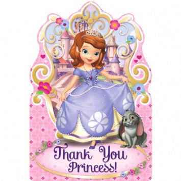 Disney Sofia The First Postcard Thank You Cards - nyea's Party Store