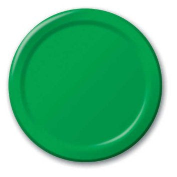 Green 7 inches Lunch/Dessert Paper Plates - nyea's Party Store