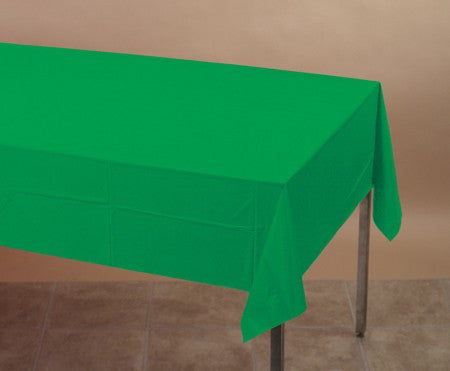 Green 54 x 108 Plastic Table Cover - nyea's Party Store