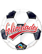 "18"" Felicidades Soccer Balloon - Nyea's Party Store"