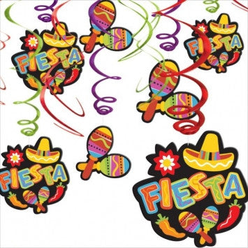 Cinco de Mayo Fiesta Hanging Swirl Decorations - nyea's Party Store
