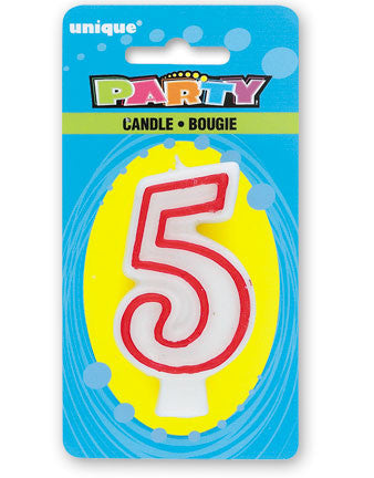 Numeral 5 Deluxe Birthday Candle - nyea's Party Store