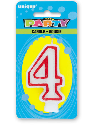 Numeral 4 Deluxe Birthday Candle - nyea's Party Store