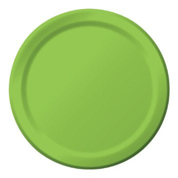 Lime 9 inches Dinner Paper Plates - nyea's Party Store