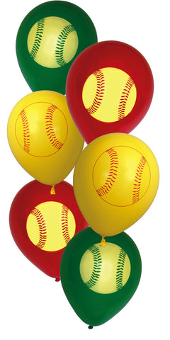"Girls Fastpitch Latex 12"" Balloon 6pk"