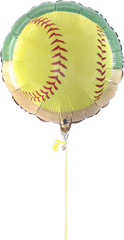 "Girl's Fastpitch Softball 18"" Mylar Balloon"