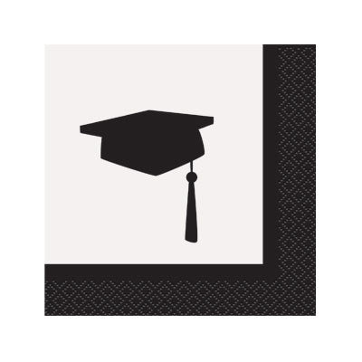 Simply Grad Beverage Napkins - nyea's Party Store