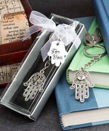 HAMSA DESIGN METAL HAND KEY CHAIN - nyea's Party Store