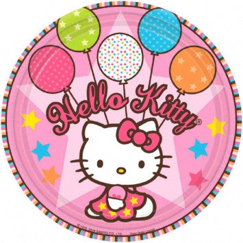 Hello Kitty 7in Plates - nyea's Party Store