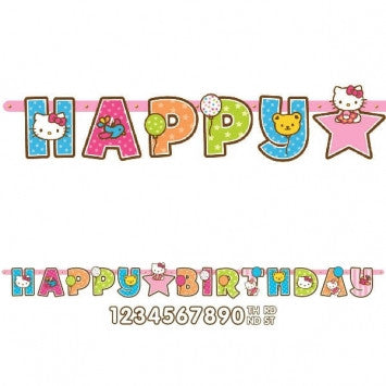Hello Kitty Jumbo Letter Banner Kit - nyea's Party Store