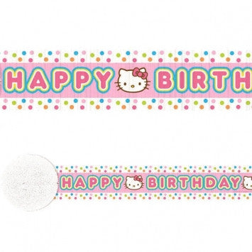 Hello Kitty Birthday Streamer - nyea's Party Store