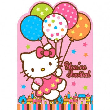 Hello Kitty Invitations - nyea's Party Store