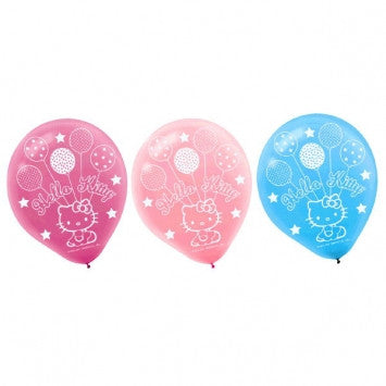 "Hello Kitty 12"" Latex Balloons - nyea's Party Store"