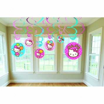 Hello Kitty Swirl Decorations - nyea's Party Store