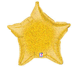 HOLO GOLD STAR FOIL BALLOON - nyea's Party Store