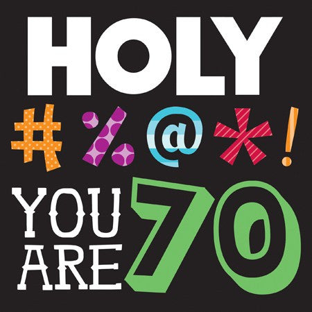 "Holy Bleep ""YOU ARE 70"" Lunch Napkins - nyea's Party Store"