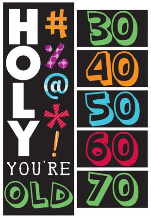 Holy Bleep Giant Party Banner - nyea's Party Store