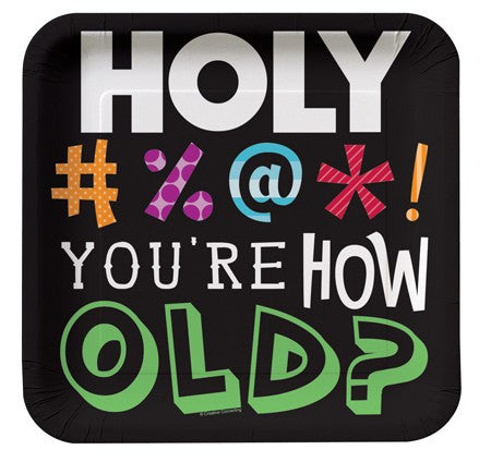 Holy Bleep 7 Inch Lunch Plates - nyea's Party Store