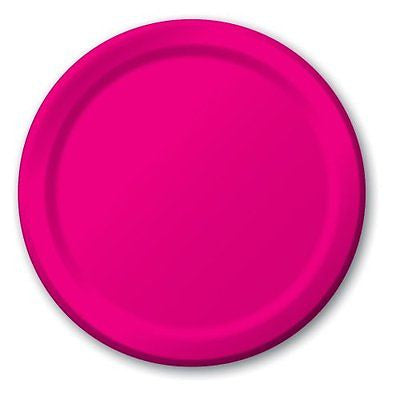 Hot Magenta 7 inches Lunch/Dessert Paper Plates - nyea's Party Store