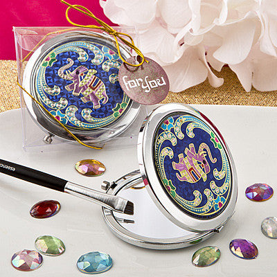 Indian Elephant Themed Metal Compact Mirror - nyea's Party Store